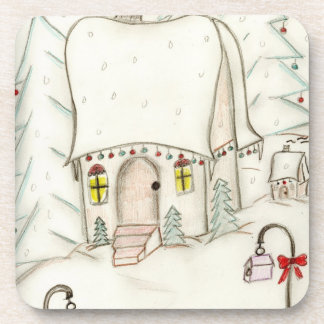 Festive Christmas Scene Drink Coaster