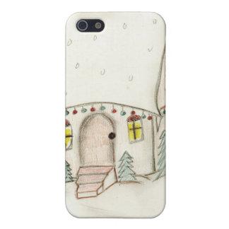 Festive Christmas scene iPhone SE/5/5s Cover