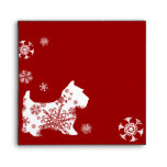 Festive Christmas Snowflake Dog Envelope