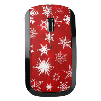 Festive Christmas snowflakes Wireless Mouse