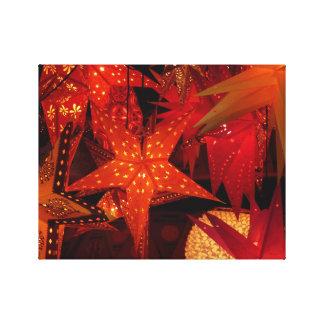 Festive Christmas Stars Stretched Canvas Prints