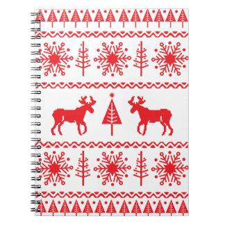 Festive Christmas Sweater Pattern Notebook