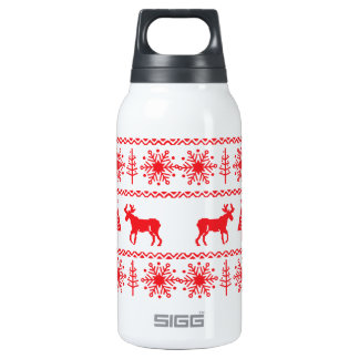 Festive Christmas Sweater Pattern 10 Oz Insulated SIGG Thermos Water Bottle
