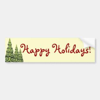 Festive Christmas Tree Creations Bumper Sticker