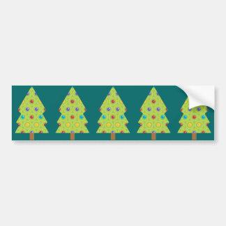 Festive Christmas Tree Creations Bumper Stickers