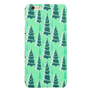 Festive Christmas Tree Forest Glossy iPhone 6 Plus Case