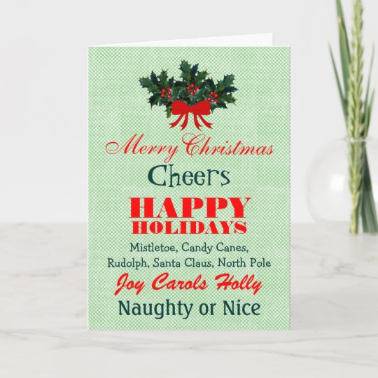 Christmas Card Quotes.Festive Christmas Words Sayings Quotes Personalize Holiday Card