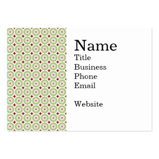 Festive Christmas Wreath and Star Pattern Business Cards
