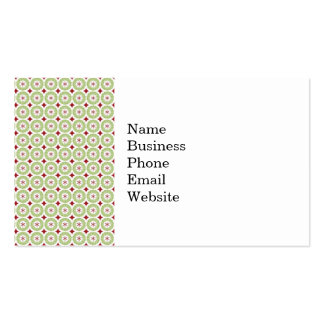 Festive Christmas Wreath and Star Pattern Business Card