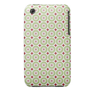 Festive Christmas Wreath and Star Pattern iPhone 3 Covers