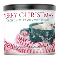 Festive cocoa cup Christmas greetings Hot Chocolate Drink Mix