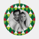 Festive Color Pattern Photo Ornaments