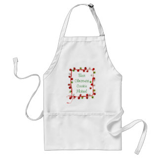 Festive Colorful Christmas Decor Ribbon Gifts Adult Apron