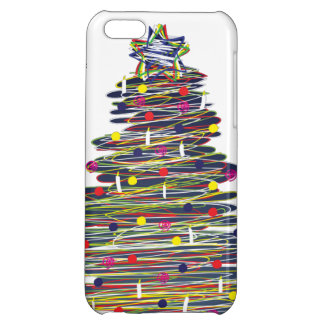 Festive Colorful Christmas Tree (Customize It!) Cover For iPhone 5C