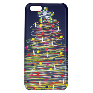 Festive Colorful Christmas Tree (Customize It!) iPhone 5C Covers