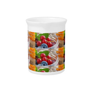 Festive colorful fruits background festivals gifts pitcher