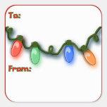 Festive Colorful Italian Holiday Lights Square Sticker