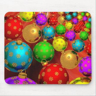 Festive Colorful Ornaments Mouse Pad