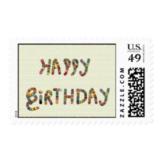 Festive Colors Birthday Postage