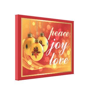 Festive Colors Christmas Blessings Peace Joy Love Canvas Print