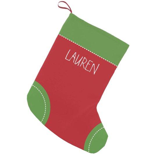 festive colors small christmas stocking