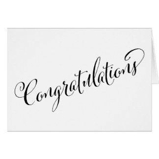 Festive Congratulations Modern Note Card