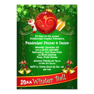 "Festive Corporate Holiday Party Fundraiser Invite 5"" X 7"" Invitation Card"