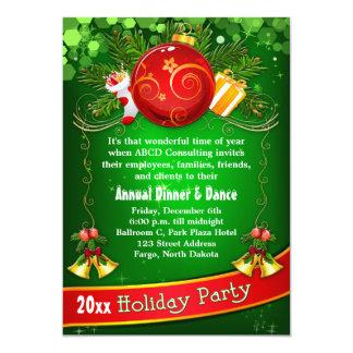 "Festive Corporate Holiday Party Invitation 5"" X 7"" Invitation Card"