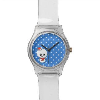 Festive Cute Snowman Watch