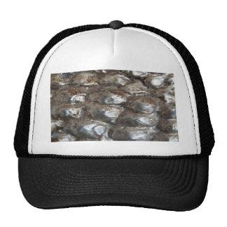 Festive Dark Silver Metallic Abstract Art Trucker Hat