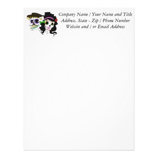 Festive Day of the Dead Art Custom Letterhead