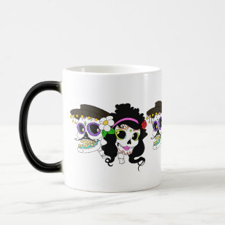 Festive Day of the Dead Art Magic Mug