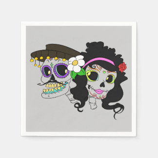 Festive Day of the Dead Art Napkin