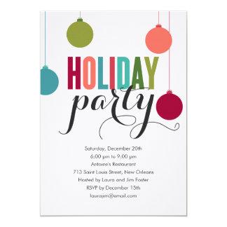"""Festive Decor Holiday Party Invitations 5"""" X 7"""" Invitation Card"""