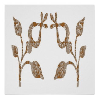 Festive decorations -  Jewels Gold Silver Engraved Poster