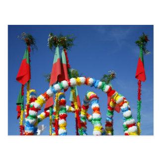 Festive decorations postcard