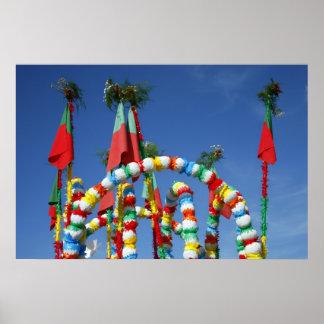 Festive decorations poster