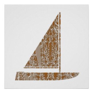 Festive decorations -  Sail Gold Silver Engraved Poster