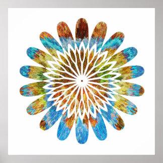 Festive decorations -  SunFlower Floral Chakra Print