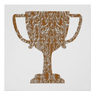 Festive decorations -  Trophy Gold Silver Engraved Poster