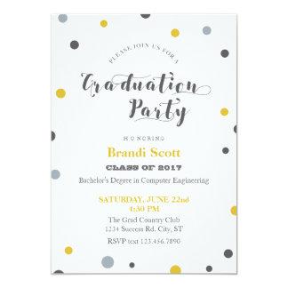 Festive Dots Graduation Invitation