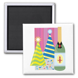 Festive Drinks 2 Inch Square Magnet