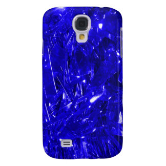 Festive Electric Blue Foil Galaxy S4 Case