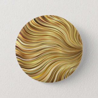 Festive Elegant  Gold Abstract Flowing Stripes Pinback Button