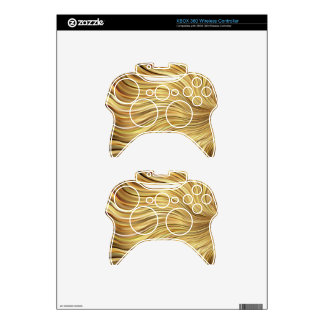 Festive Elegant  Gold Abstract Flowing Stripes Xbox 360 Controller Skins