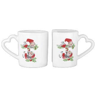 Festive Elves Lovers Mugs Couples' Coffee Mug Set