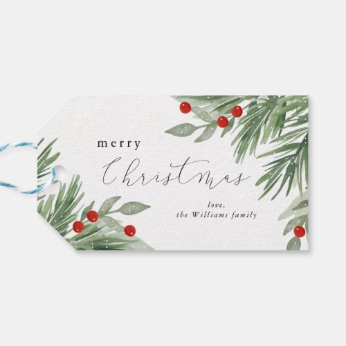 Festive Evergreen Gift tag