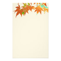 Festive Fall Gold Japanese Maple Leaves Canopy Stationery