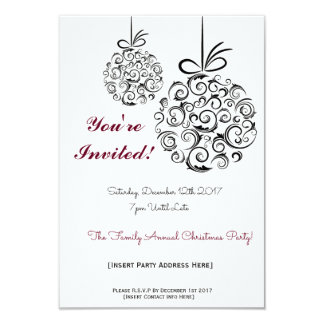 Festive Family Celebration Christmas Invitation