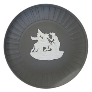 Festive fantasy dinner plate